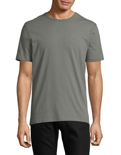 Dockers Short-Sleeve Cotton Tee-GREEN-Large