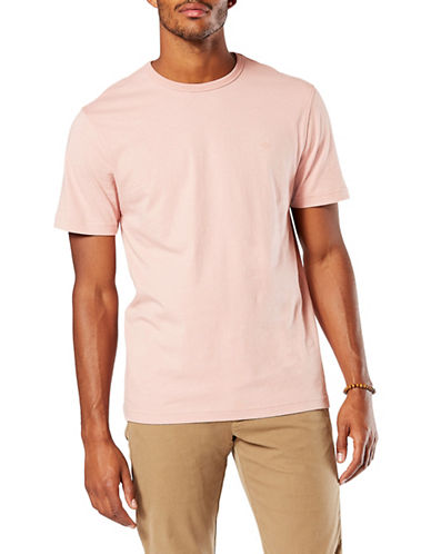 Dockers Pacific Crew Cotton Tee-PINK-Large