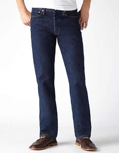 LeviS 501 Straight Leg Button Fly Jeans-BLUE-38X30