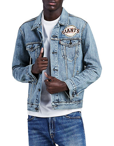Levi'S MLB SF Giants Denim Trucker Jacket-BLUE-XX-Large 90072010_BLUE_XX-Large