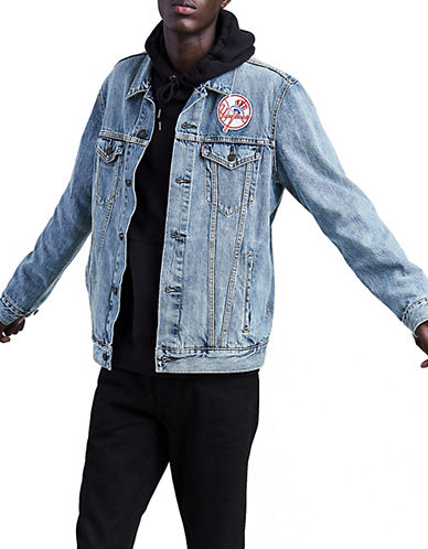 Levi'S MLB NY Yankees Denim Trucker Jacket-BLUE-Large 90072013_BLUE_Large