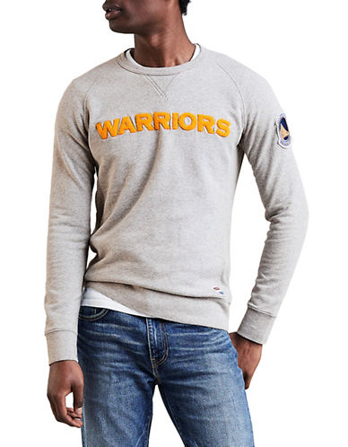 LeviS Golden State Warriors Fleece Sweatshirt-GREY-Medium