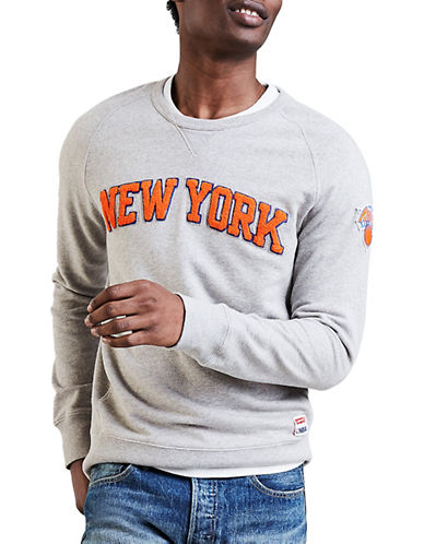 LeviS New York Knicks Fleece Sweatshirt-GREY-Medium
