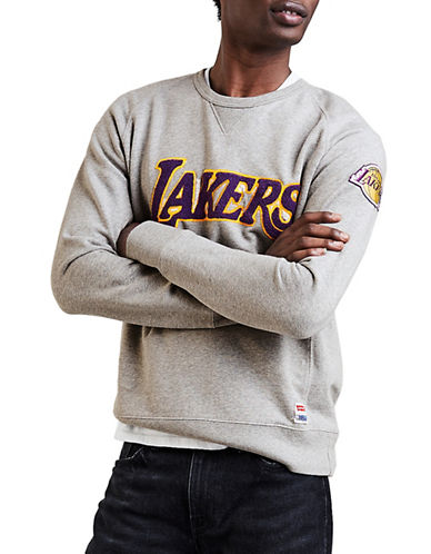 LeviS Los Angeles Lakers Fleece Sweatshirt-GREY-Small