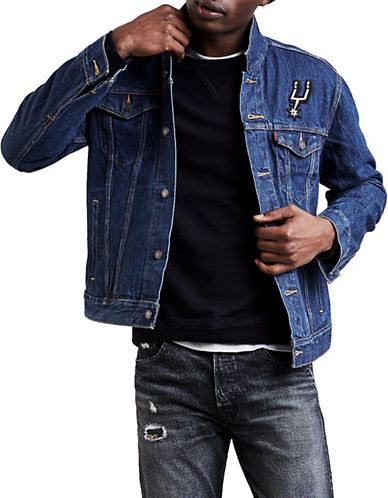 LeviS San Antonio Denim Trucker Jacket-BLUE-Large