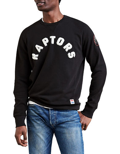 LeviS Toronto Raptors Fleece Sweatshirt-BLACK-Small
