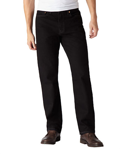 LeviS 505 Regular Fit Jeans-BLACK-32X34