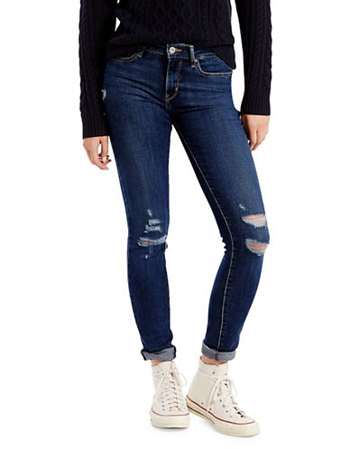 LeviS Damage Is Done Ripped Skinny Jeans-MEDIUM BLUE-27