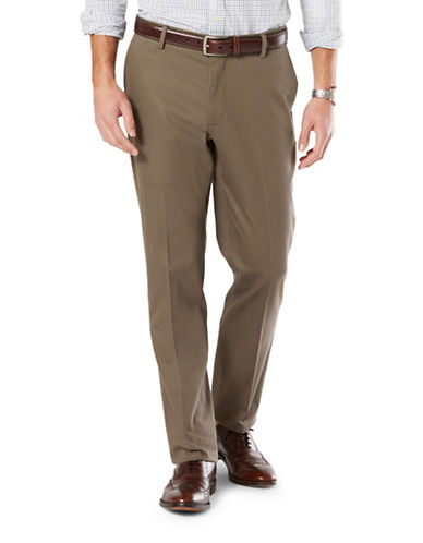 Dockers Athletic Fit Signature Khaki with Stretch-PEBBLE-32X32