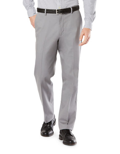 Dockers Classic Fit Signature Khaki with Stretch-BURMA GREY-42X32