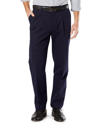 Dockers Classic-Fit Signature Stretch Pleated D3 Pants-DOCKERS NAVY-30X32
