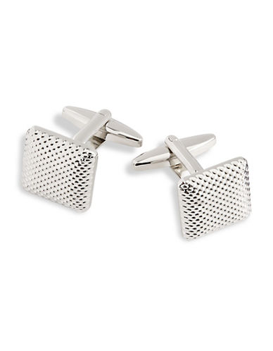 Hudson Room Textured Square Cufflinks-SILVER-One Size