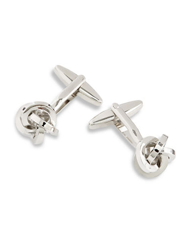 Hudson Room Circular Knot Cufflinks-SILVER-One Size