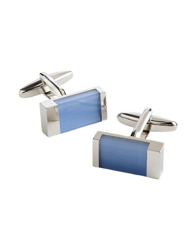 Hudson Room Rectangle Cufflinks-BLUE-One Size