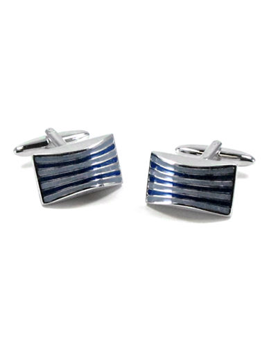 Black Brown 1826 Cufflinks-BLUE-One Size