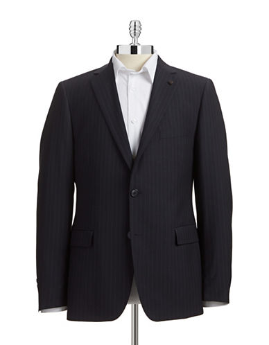 Black Brown 1826 Modern Fit Suit Separate Jacket Navy Pinstripe-NAVY-46 Tall