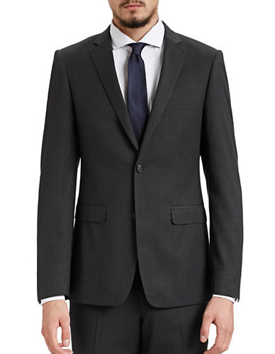 1670 Slim Fit Charcoal Suit Jacket-CHARCOAL-38 Short