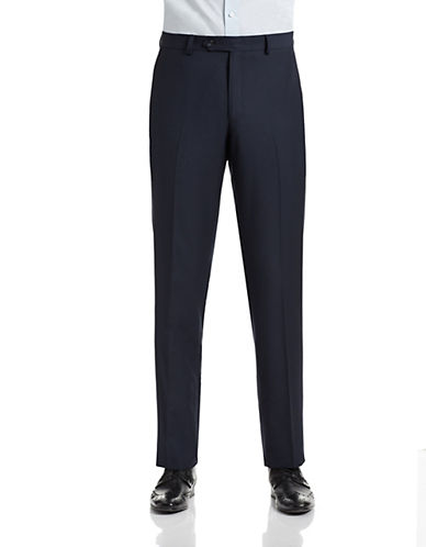 1670 Slim Fit Navy Suit Pants-NAVY-38X30