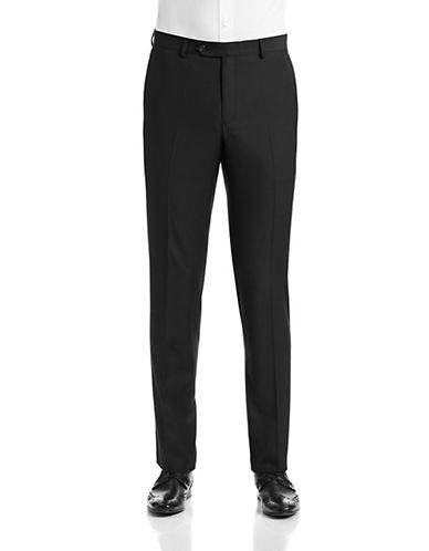 1670 Slim Fit Black Suit Pants-BLACK-38X36