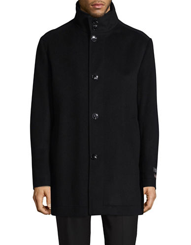 Black Brown 1826 Wool-Cashmere Overcoat-BLACK-42 Regular