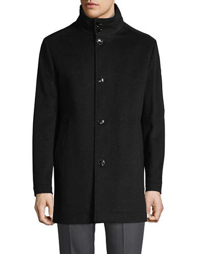Black Brown 1826 Double Collar Overcoat-GREY-40 Tall