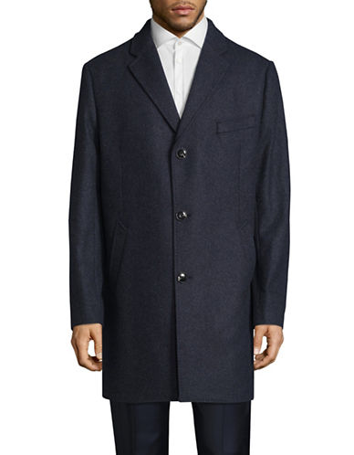 Black Brown 1826 Bruno Wool-Blend Peacoat-BLUE-44 Tall