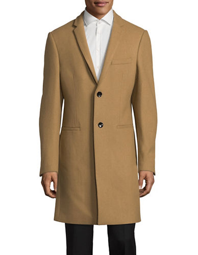 1670 Wool-Blend Overcoat-BEIGE-42 Tall