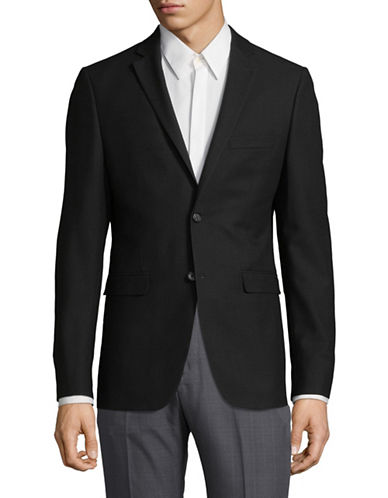1670 Classic Buttoned Suit Jacket-BLACK-34 Regular