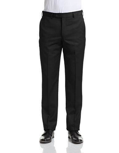 Coppley Stretch Wool Pants-BLACK-40