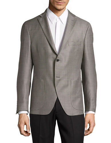 Coppley Super 130s Interlock Wool Sports Jacket-GREY-38 Regular