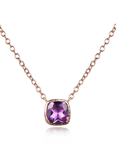 Piara Amethyst Square Pendant Necklace-PURPLE-One Size