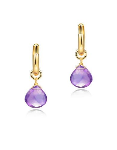 Piara Amethyst Drop Earrings-PURPLE-One Size