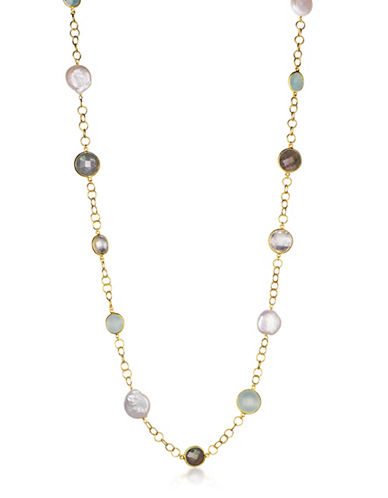 Piara Goldplated Sterling Silver Multi-Station Necklace-MULTI-One Size