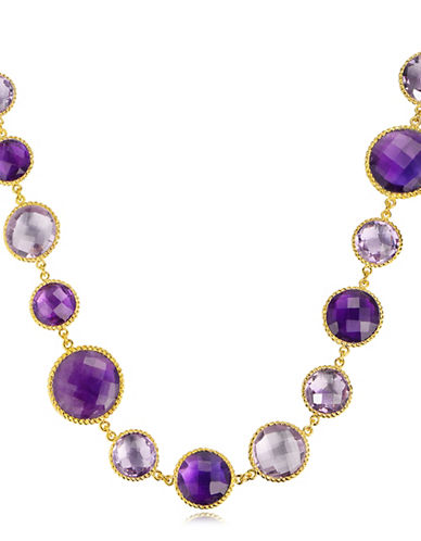 Piara Amethyst Twisted Necklace-PURPLE-One Size