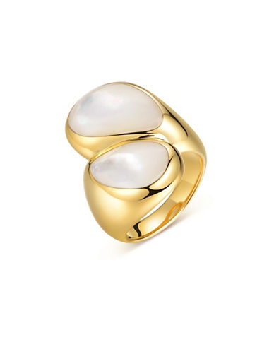 Piara White Mother-of-Pearl Bypass Ring-WHITE-8