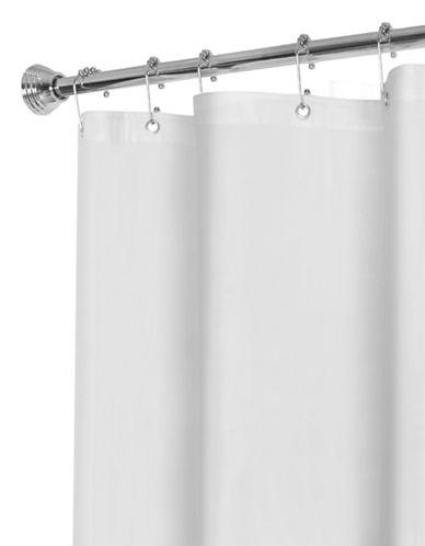 Maytex No-Mildew Vinyl Shower Liner-WHITE-One Size