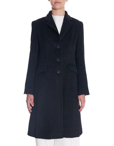 Sosken Britt Alpaca Blend Tailored Coat-BLACK-X-Small