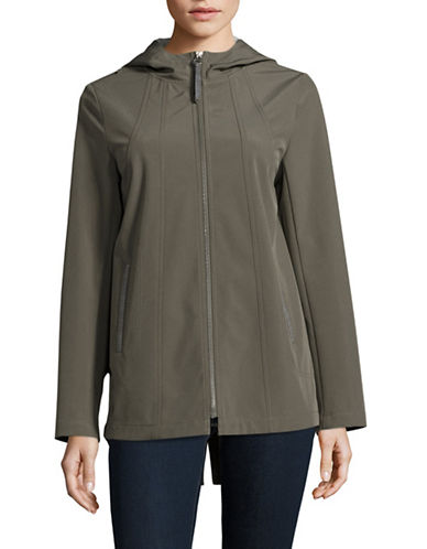 Novelti Soft Shell Hooded Jacket-OLIVE-Small
