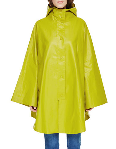 Sosken Clea Hooded Poncho Raincoat-CITRUS-Large/X-Large