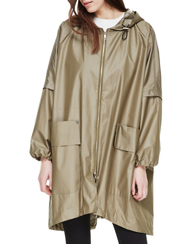 Sosken Cristal Packable Luxury Raincoat-KHAKI-Small/Medium