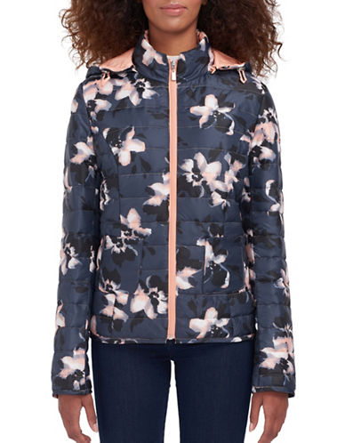 Novelti Floral-Printed Quilted Jacket-FLORAL-Medium