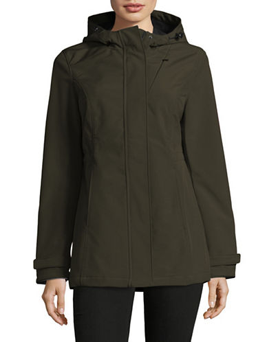 Novelti Hooded Soft Shell Jacket-OLIVE-Medium