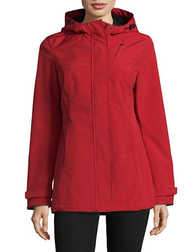 Novelti Hooded Soft Shell Jacket-RED-Small