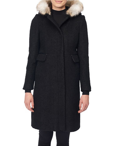Novelti Removable Faux Fur Boucle Coat-BLACK-8