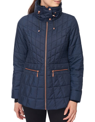 Novelti Lightweight Quilted Jacket-NAVY-Large