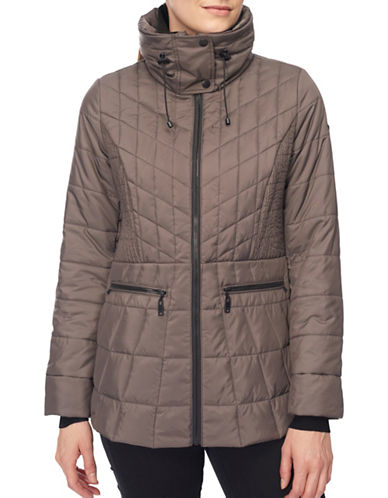 Novelti Lightweight Quilted Jacket-TAUPE-Medium