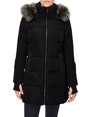 Novelti Faux Down Quilted Jacket-BLACK-XX-Large