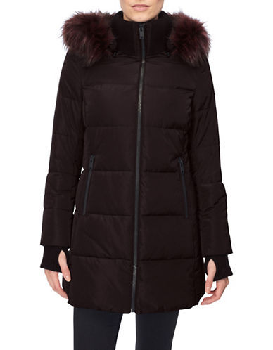 Novelti Faux Down Quilted Jacket-GRAPE-Small