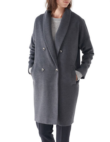 Sosken Bobbie Shawl Collared Coat-CHARCOAL-3