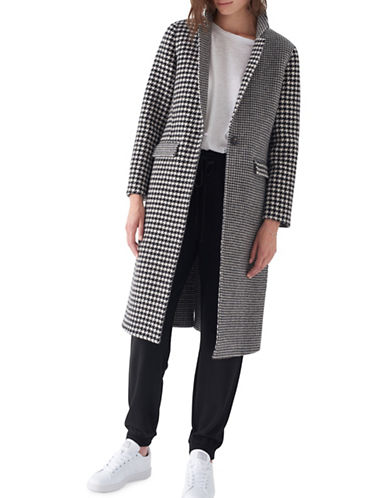 Sosken Elizabeth Tailored Wool Coat-BLACK MULTI-2